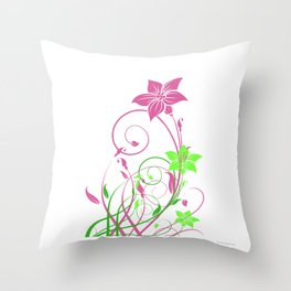 Spring's flowers Throw Pillow