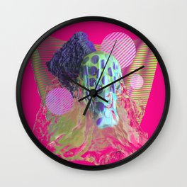 Abstract Water Colorful Simulation Wall Clock