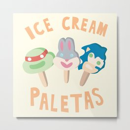 ICE CREAM! PALETAS! Metal Print