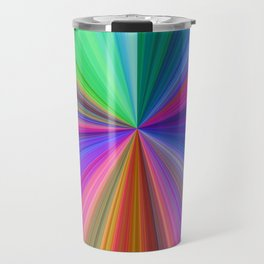 Rainbow Colour Burst Travel Mug