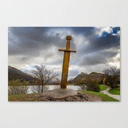 Sword of Llanberis Snowdonia Canvas Print