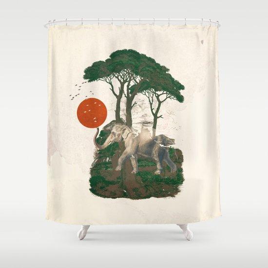 Savanna Sunrise Shower Curtain