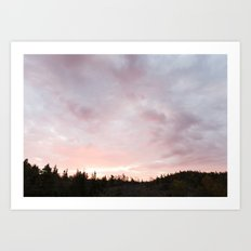 Ontario - Canada | landscape - photography - pukaskwa - pink - sky - sunrise - nature - wilderness Art Print