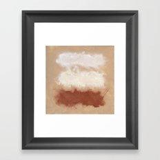 Rothko Inspired Spiced Berry Canyon Dusk 001 Mixed Stripe Modern Art Comforter Pillow #society6 Framed Art Print