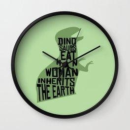 Dinosaurs Eat Man Wall Clock