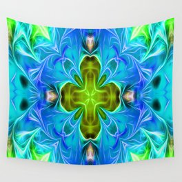 Blue Dynamic Energy Wall Tapestry
