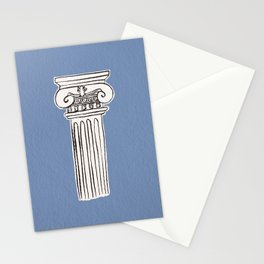 Greek ionic column Stationery Cards