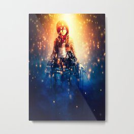 Attack on Titan Mikasa Metal Print
