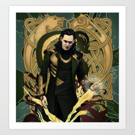 Loki God of Mischief Art Print