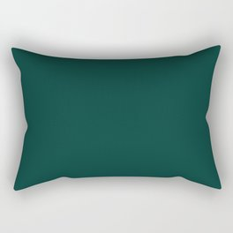 Forest Biome Solid Green Color Trend Autumn Winter 2019 2020 Rectangular Pillow