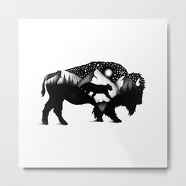 THE BISON AND THE COUGAR Metal Print
