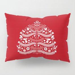 Scandinavian Folk Art Christmas Tree Pillow Sham