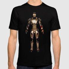 Iron Man  Black Mens Fitted Tee MEDIUM