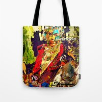 lucas david Tote Bags featuring David by Lanny Quarles