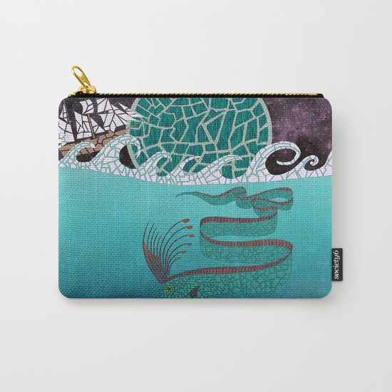 Ore Fish Mosaic Carry-All Pouch