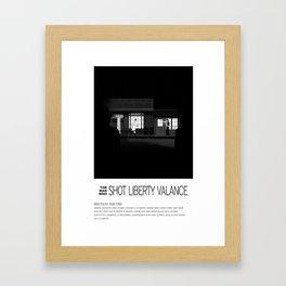 THE MAN WHO SHOT LIBERTY VALANCE (1962) Framed Art Print