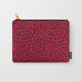 RED LEOPARD PRINT – Cherry Red | Collection : Punk Rock Animal Prints. Carry-All Pouch