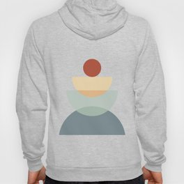 Abstraction Shapes 11 in Neutral Shades (Sun and Moon Phases) Hoody