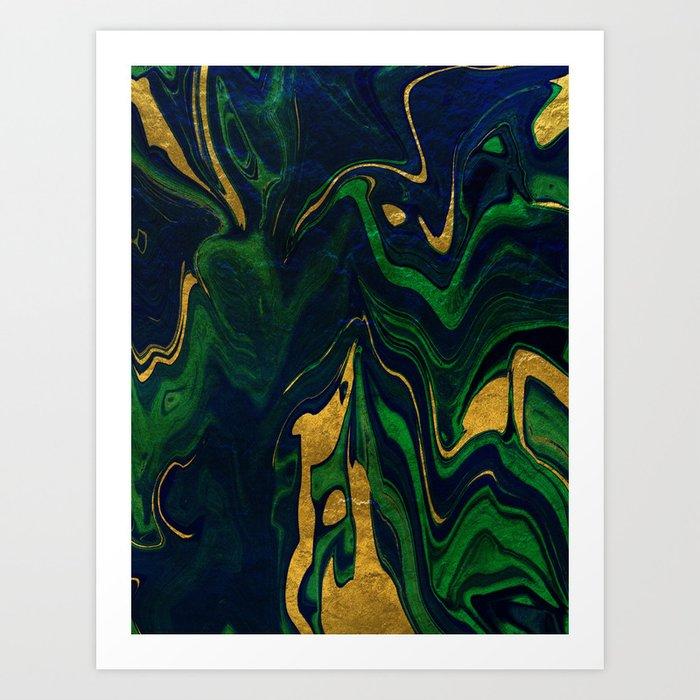 Rhapsody in Blue and Green and Gold Kunstdrucke