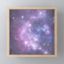 Space Frontier - Purple Framed Mini Art Print
