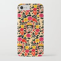 frida iPhone & iPod Cases featuring Frida by Bouffants and Broken Hearts