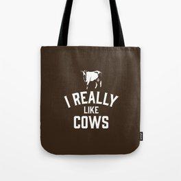 I Really Like Cows Tote Bag