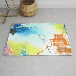 The Dreaming - Square Abstract Expressionism Rug