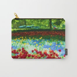 Colorful Impressionist Flower Field - II Carry-All Pouch