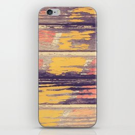 Weathered Painted Wood Wall iPhone Skin