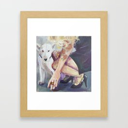 The Only Bully In Her Life Framed Art Print