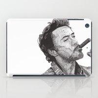 robert downey jr iPad Cases featuring Robert by Rik Reimert