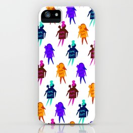 Homebody Pattern - Introvert Day and Night iPhone Case
