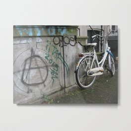 Amsterdam Anarchy Metal Print