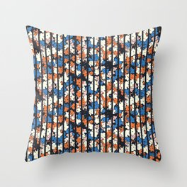 Flower + Vertical Stripe : TM17063 Throw Pillow