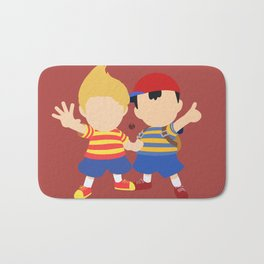 Ness&Lucas(Smash)Red Bath Mat
