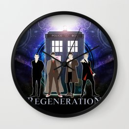 Regeneration Of The Doctor Wall Clock