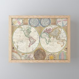1794 Laurie & Whittle Old Map of the World Framed Mini Art Print