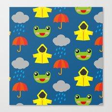 rainy days (Children's pattern) Canvas Print