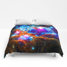 Cosmic Winter Wonderland Comforters