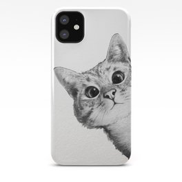 sneaky cat iPhone Case