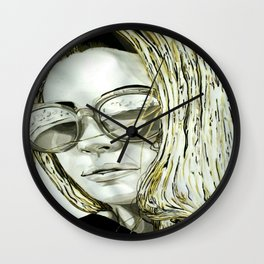 BLACK WHITE AND A LITTLE GOLD COLLECTION Wall Clock