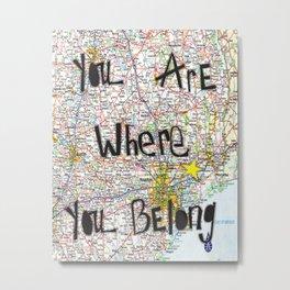 Where You Belong-Houston Metal Print