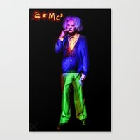 einstein Canvas Prints featuring Einstein by Rewolf