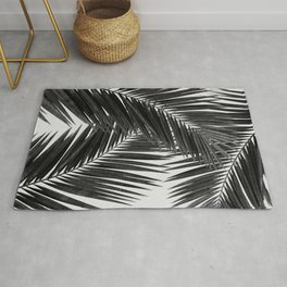 Palm Leaf Black & White III Rug