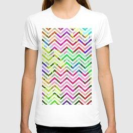 Rainbow Abstract Zig Zag T-shirt