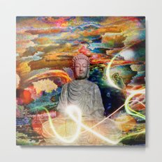 Budha in the Realm of Color Metal Print