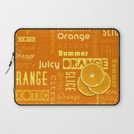 Orange Fruit Slices Summer Typography Laptop Sleeve