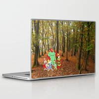 robin hood Laptop & iPad Skins featuring Robin Hood and the Gang by foreverwars