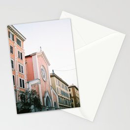 Pastel colored street | Travel photography print Rome, Italy | Pastel colored wall art Stationery Cards