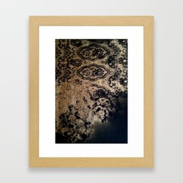 Untitled(gold&black) Framed Art Print